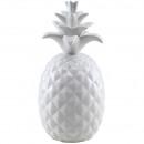 Ker. Ananas, D 12 cm, H 24 cm, blanc brillant